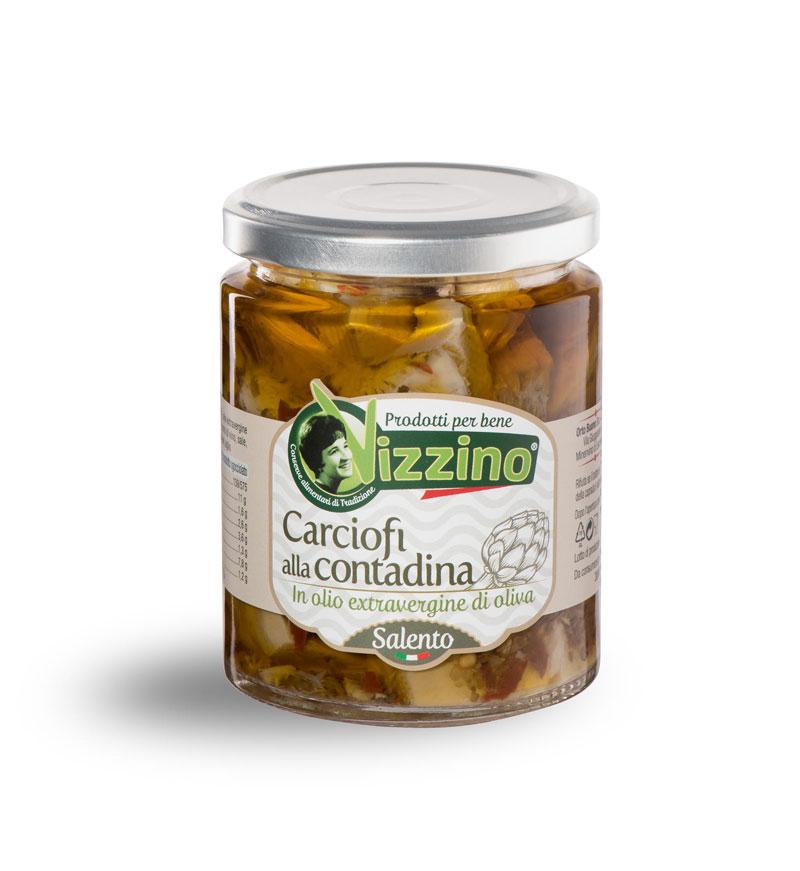 Carciofi alla contadina in olio extravergine di oliva Salento
