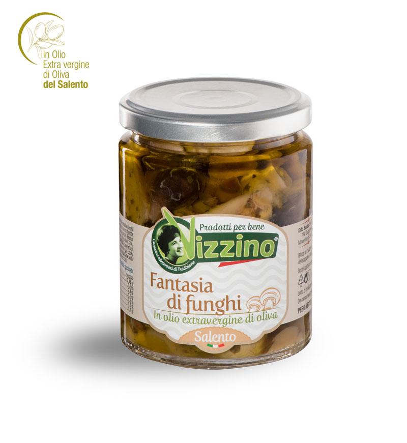 Fantasia di funghi in olio extravergine di oliva