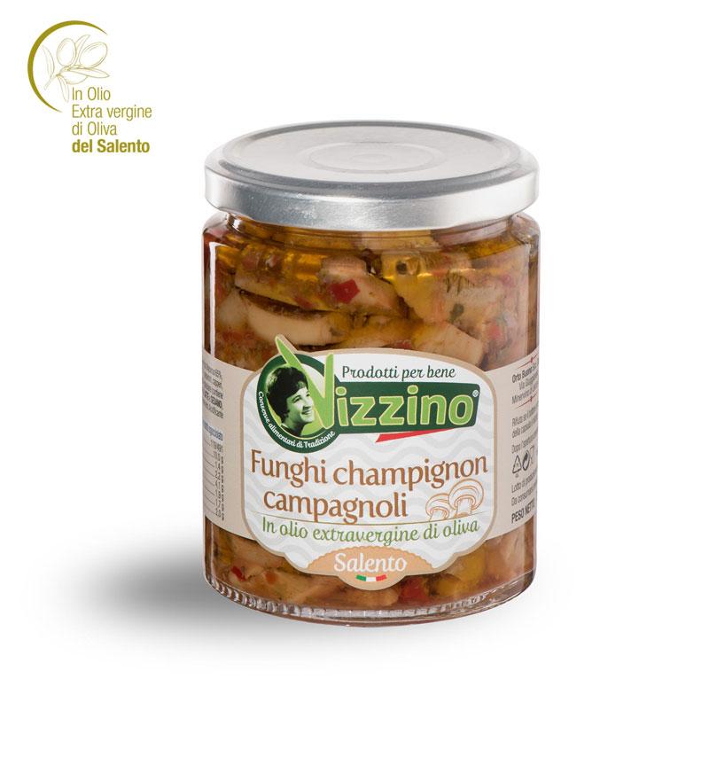 Funghi champignon campagnoli in olio extravergine di oliva