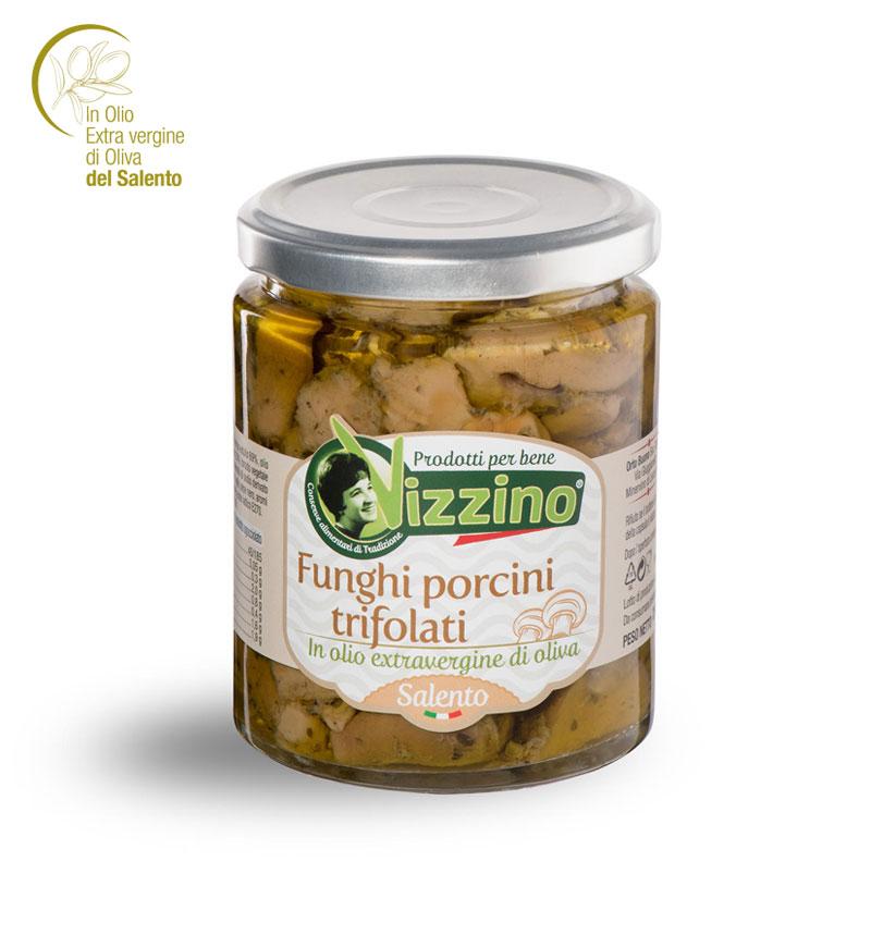 Funghi porcini trifolati in olio extravergine di oliva
