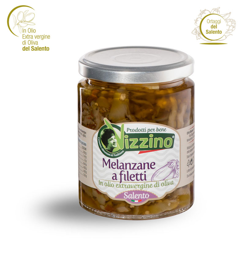 Melanzane a filetti in olio extravergine di oliva