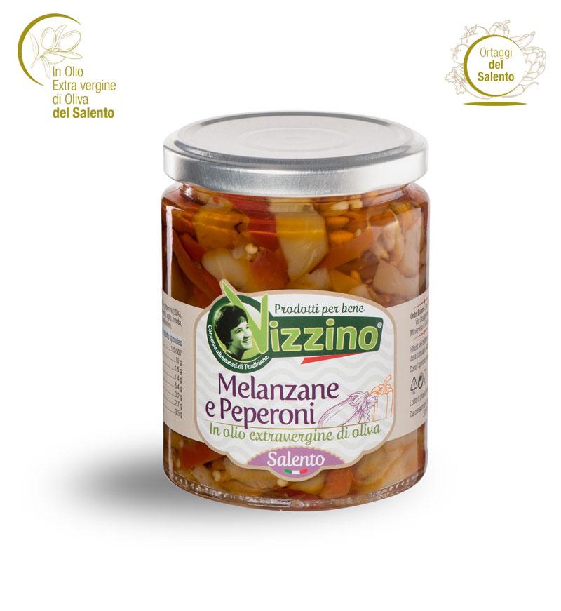 Melanzane e peperoni in olio extravergine di oliva
