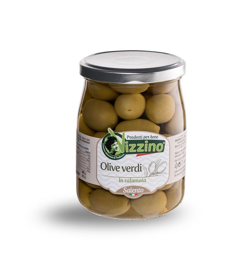 Olive verdi in salamoia Vizzino Salento