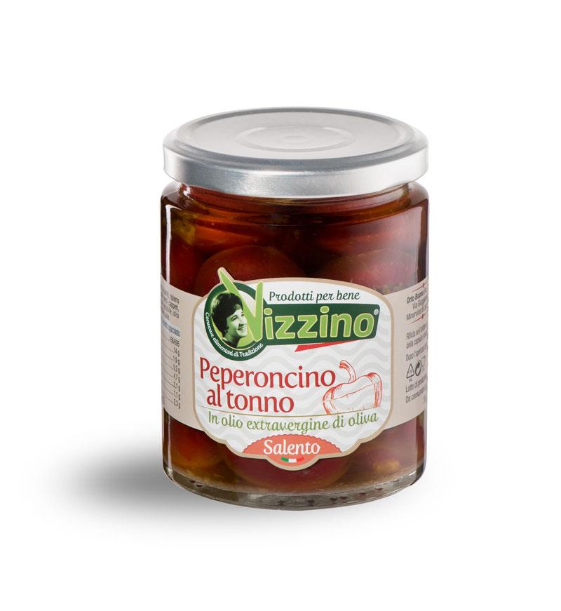Peperoncino al tonno in olio extravergine di oliva
