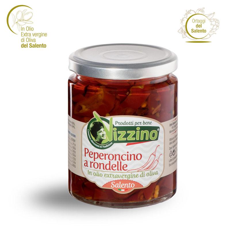 Peperoncino a rondelle in olio extravergine di oliva Salento