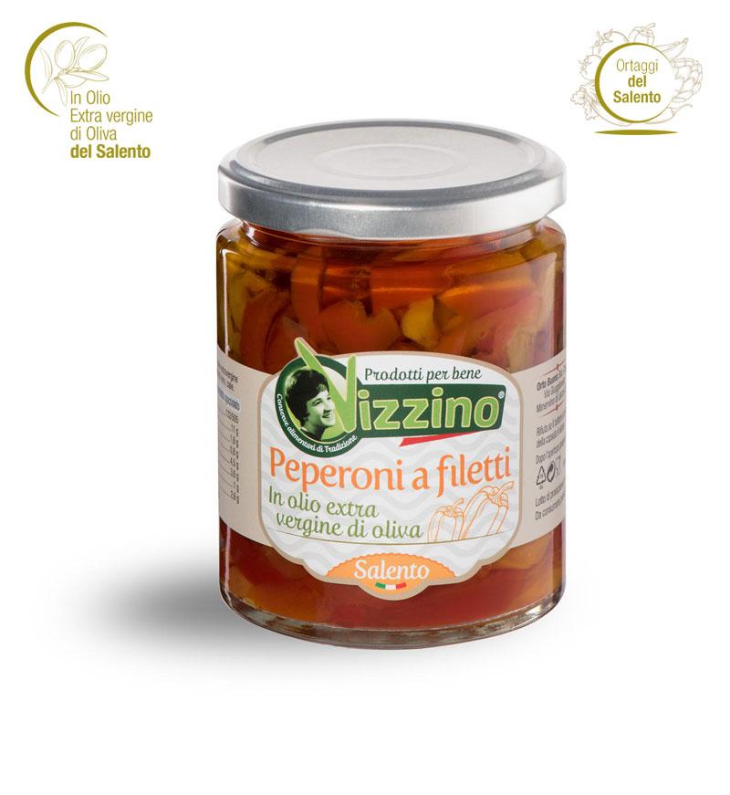 Peperoni a filetti in olio extravergine di oliva